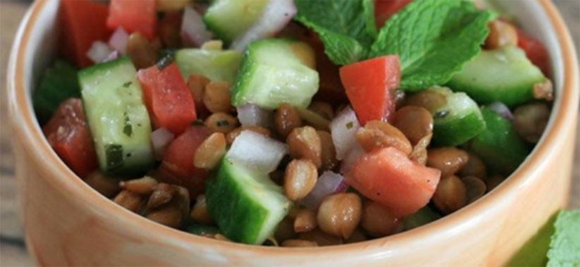 Persian lentil salad